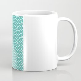 Lattice - Turquoise Coffee Mug