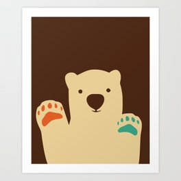 Polar bear paws Art Print