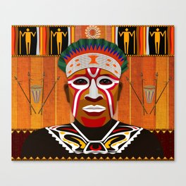 African Tribesman 3 Canvas Print