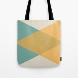 Mid Century - Yellow and Blue Tote Bag