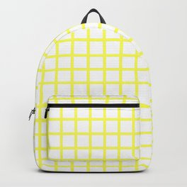 Grid (Yellow & White Pattern) Backpack