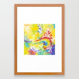 chariot ride Framed Art Print