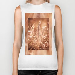 Golden old withered cereal ear grow Biker Tank