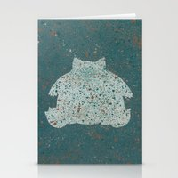 snorlax Stationery Cards featuring Snorlax Pkmn by Herk Designs