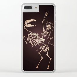 Skeleton Shock Rock Clear iPhone Case