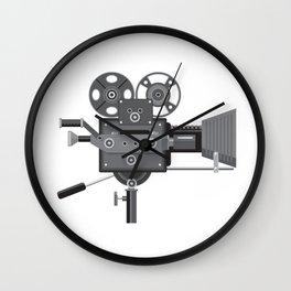 Vintage Movie Film Camera Retro Wall Clock
