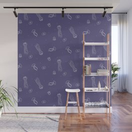 Jellyfish in Purple Wall Mural