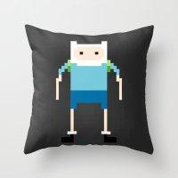 finn Throw Pillows featuring Finn by Richard Howard