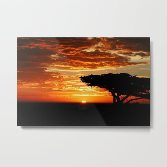 Fiery Dragon Metal Print