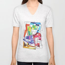 Abstract 10 Unisex V-Neck