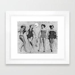 4 Girls Sunbathing Framed Art Print