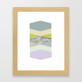 pastel loves marble geometry Framed Art Print