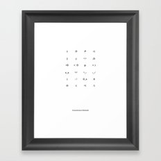 24 Emoticons in Rockwell Framed Art Print