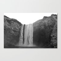 iceland Canvas Prints featuring iceland by katie moon