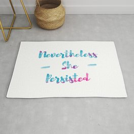 NEVERTHELESS SHE PERSISTED | LIGHT VERSION Rug