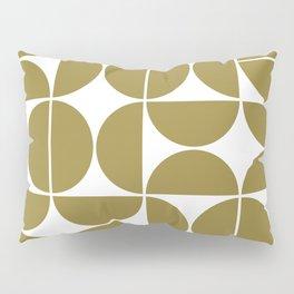 Mid Century Modern Geometric 04 Flat Gold Pillow Sham