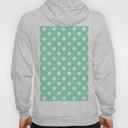 Polka Dots (White & Mint Pattern) Hoody