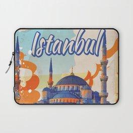 Istanbul Aya Sophia Mosque vintage travel poster Laptop Sleeve