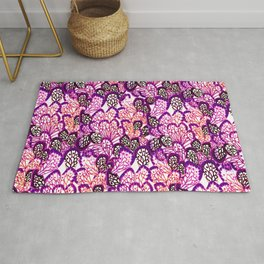 Purple wings Rug
