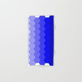 Hexagons (Blue) Hand & Bath Towel