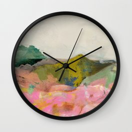 summer landscape Wall Clock