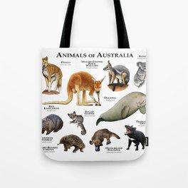 Animals of Australia Tote Bag