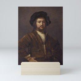 Rembrandt - Portrait of a foreign admiral Mini Art Print