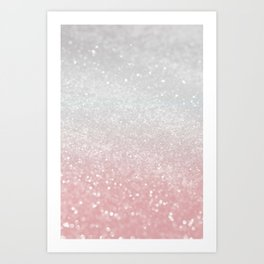 Blush Gray Princess Glitter #1 (Faux Glitter - Photography) #shiny #decor #art #society6 Art Print