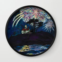 Crescent City Fourth of July ~ Battery Point Lighthouse Wall Clock