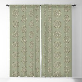 Woodland Animal Print on Forest Green Blackout Curtain