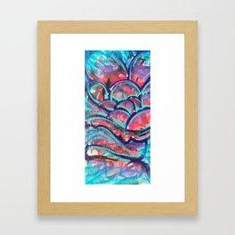 Electric Sunset Rose Framed Art Print