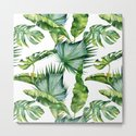 Tropical Island Plants on White by followmeinstead