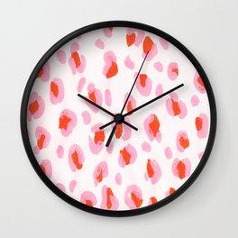 Pink Leopard Wall Clock