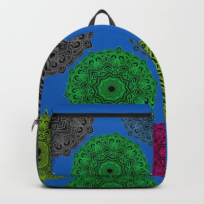 My Angel Spirit Mandhala   Secret Geometry Backpack