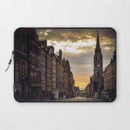Royal Mile Sunrise in Edinburgh, Scotland Laptop Sleeve