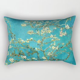 Vincent Van Gogh Blossoming Almond Tree Rectangular Pillow