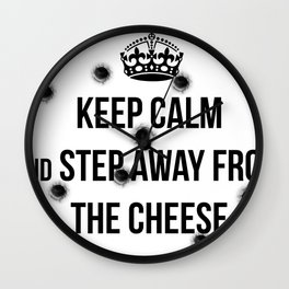 Keep calm For the french Wall Clock
