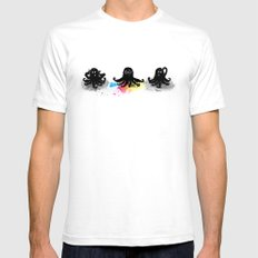 4-color squid White SMALL Mens Fitted Tee