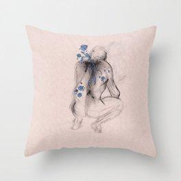 Man in Roses Throw Pillow