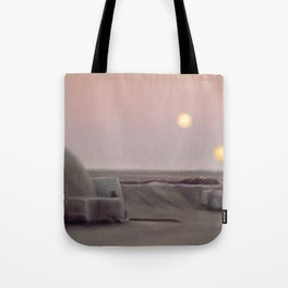 Twin Suns Dessert Tote Bag