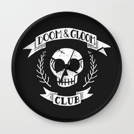Doom & Gloom Club Wall Clock