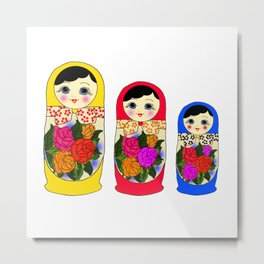 Russian Nesting Dolls Metal Print