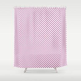 Super Pink Polka Dots Shower Curtain