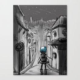 Uphill road Canvas Print