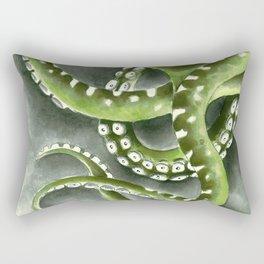 Green Tentacles from The Dark Watercolor Art Rectangular Pillow