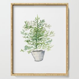 Christmas Tree in Galvanized Bucket Serving Tray