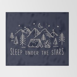Sleep under the stars Throw Blanket