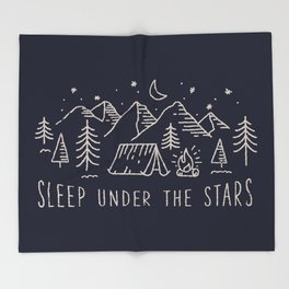 Sleep under the stars Throw Blanket