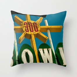 A Perfect Score - Vintage Bowling Alley Photograph Throw Pillow