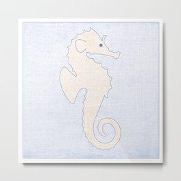 Seahorse - Under the Sea Series Nursey Print Metal Print